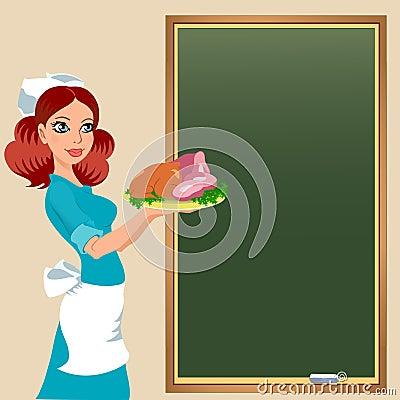 Girl waiter