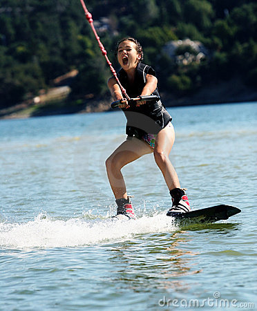 Free Girl Wakeboarding Royalty Free Stock Images - 2732469