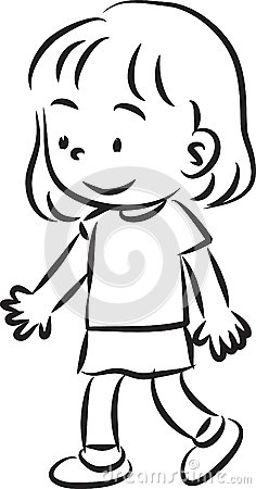 Girl Walking Stock Illustration Image 44522988