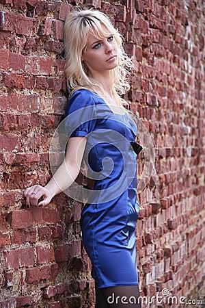 Girl at the wall