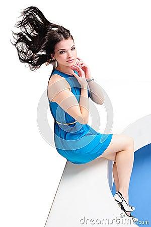 Girl with waving hair