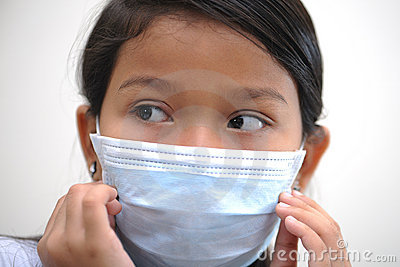 Girl wear mask