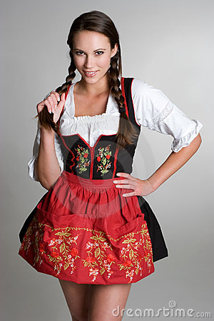 Girl Wearing Dirndl
