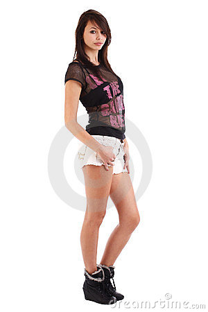 Girl Wearing Shorts Stock Photos - Image: 24067213