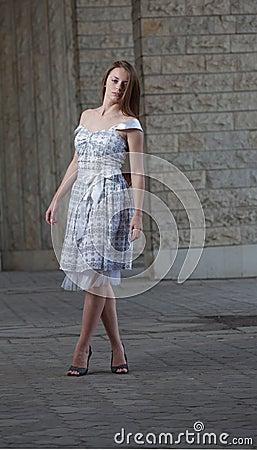Girl wearing in white dress
