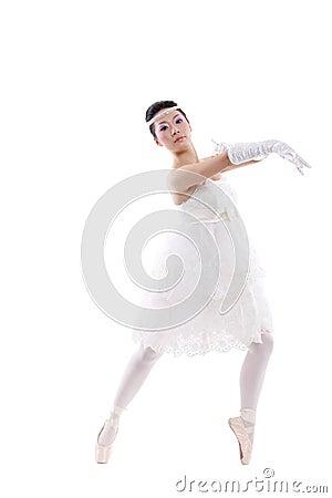 Girl in wedding dress