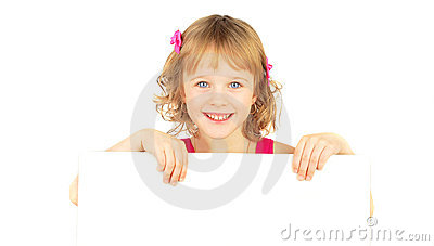 Girl with white bord.