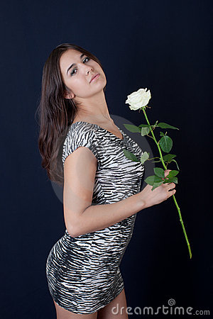 Girl with a white rose