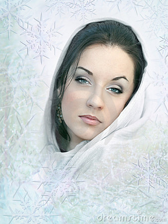 Girl in white scarf