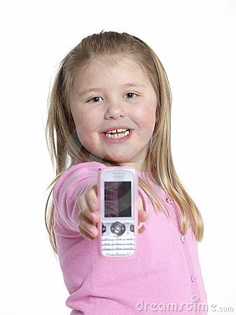 Girl whith a mobile phone