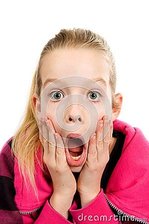 Girl who is amazed