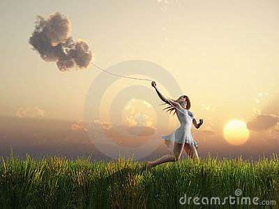 Girl who catches clouds