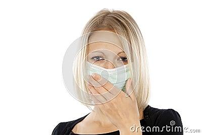 Girl who is sick