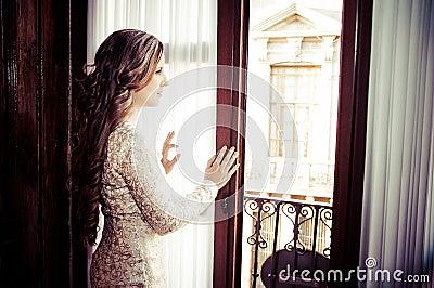 Girl in a window