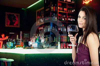 Girl and wine