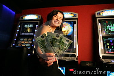Girl winning money