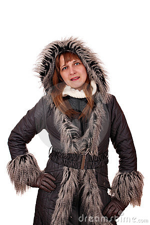 Girl in a winter jacket