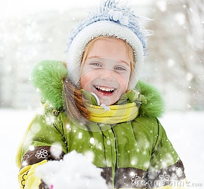 Free Girl Winter Vacation Stock Image - 29732451