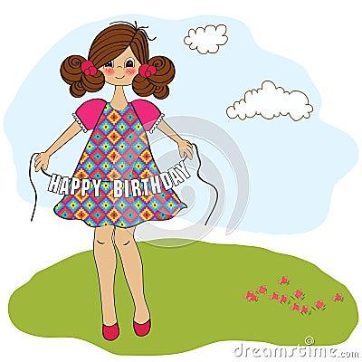 girl wishing you happy birthday