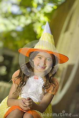 Girl in Witch Costume, Halloween