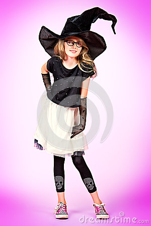 Girl in witch hat