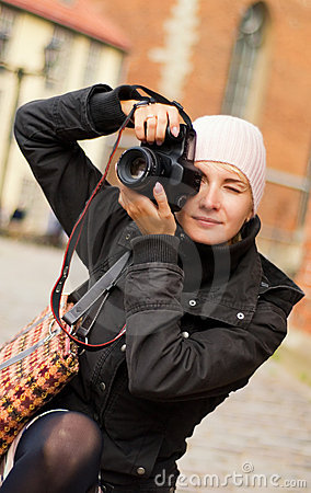 Free Girl With A Digital Camera Stock Images - 3307044