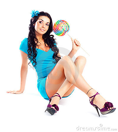 Free Girl With A Lollipop Royalty Free Stock Photo - 13228855