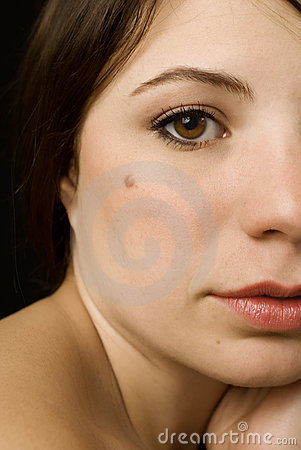 Free Girl With A Mole Stock Image - 2362321