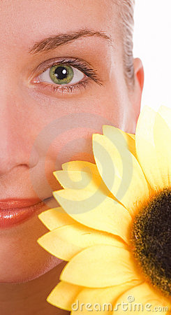 Free Girl With A Sunflower Stock Images - 2222774