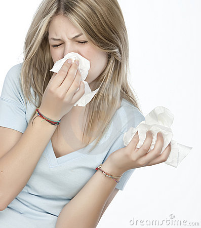 Free Girl With Allergies Stock Photos - 9898853