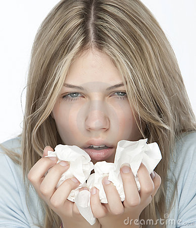 Free Girl With Allergies Royalty Free Stock Image - 9898926