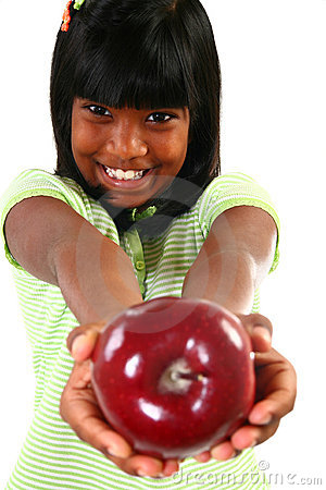 Free Girl With Apple Royalty Free Stock Photo - 5953635