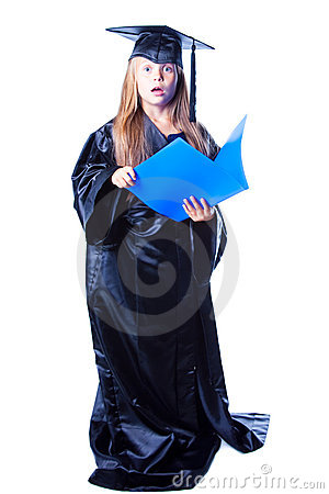 Free Girl With Bachelor Hat And Graduation Gown Stock Photos - 20719453