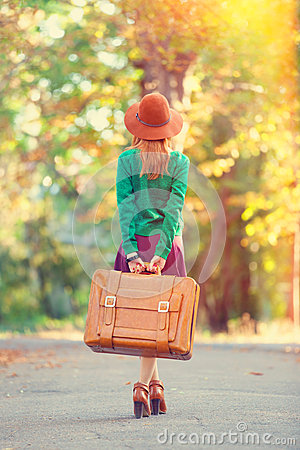 Free Girl With Bag Royalty Free Stock Photo - 44029145
