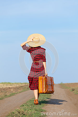 Free Girl With Bag Royalty Free Stock Photos - 58607838