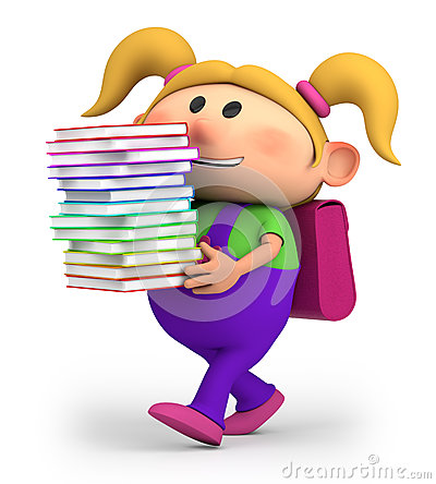 Free Girl With Books Royalty Free Stock Photography - 24908907