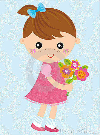 Free Girl With Bouquet Royalty Free Stock Photography - 17849967