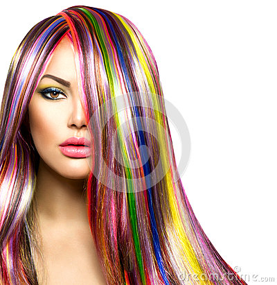 Free Girl With Colorful Dyed Hair Stock Photo - 37402250