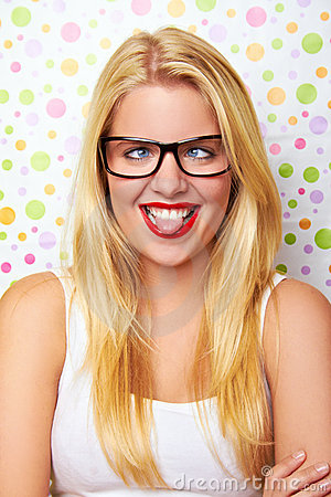 Free Girl With Crazy Smile Stock Images - 15971534