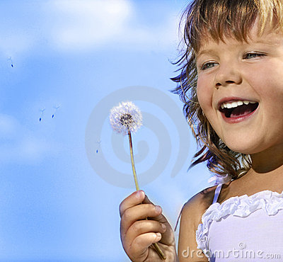 Free Girl With Dandelion Stock Image - 9148911