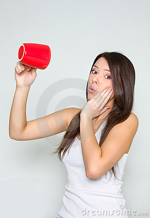 Free Girl With Empty Tea Cup Stock Image - 13382211
