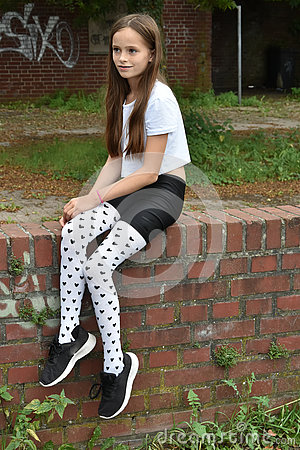 Free Girl With Fancy  Pair Of Tights Stock Photography - 76752822