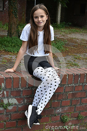 Free Girl With Fancy  Pair Of Tights Stock Images - 76752854