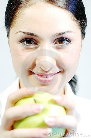 Free Girl With Fresh Apple 3 Royalty Free Stock Photos - 246688