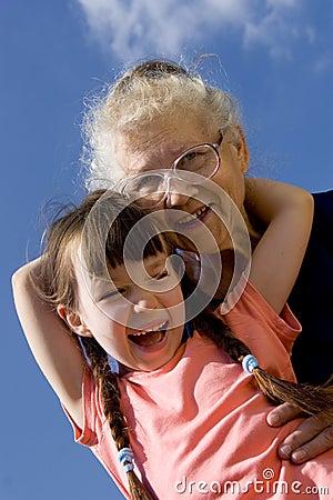 Free Girl With Grandma Royalty Free Stock Image - 1133096