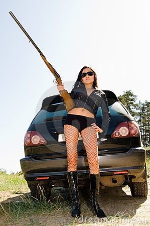 Free Girl With Gun Royalty Free Stock Photo - 10805875
