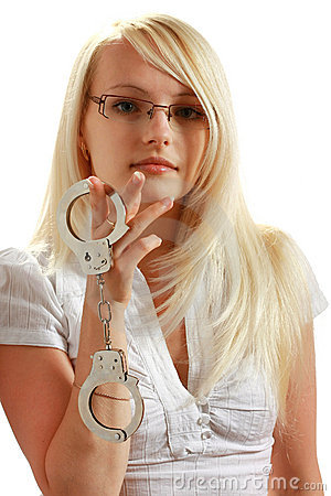 Free Girl With Handcuffs Royalty Free Stock Photos - 10297848