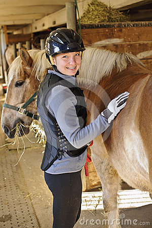 Free Girl With Horse Stock Images - 24493314