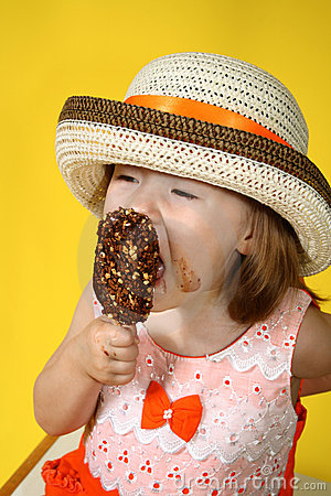 Free Girl With Ice Cream Stock Photos - 5179853