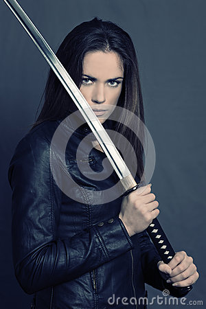Free Girl With Katana Royalty Free Stock Photography - 28934727